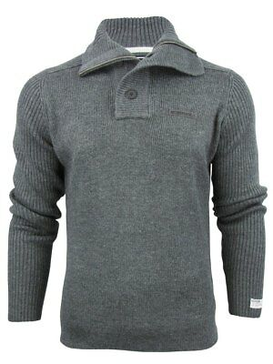 626d238b0b7f8 MENS DISSIDENT  BUFFALO  Wool Mix Button Front Funnel Neck Cardigan ...
