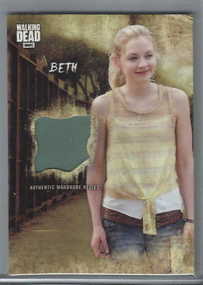 2018 Topps Walking Dead Road To Alexandria Beth Authentic Wardrobe Relic