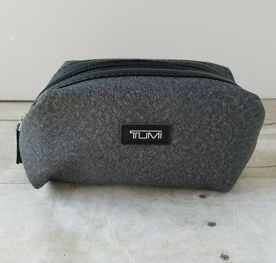 Tumi For Delta Airlines First Class Toiletry Amenity Travel Bag Zip Pouch Gray