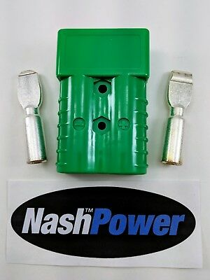 350 Amp Green 2/0 AWG Battery Connector Replaces Anderson SB350