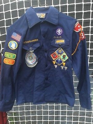 Vintage Boy Scout Shirt ,lots Of Badges