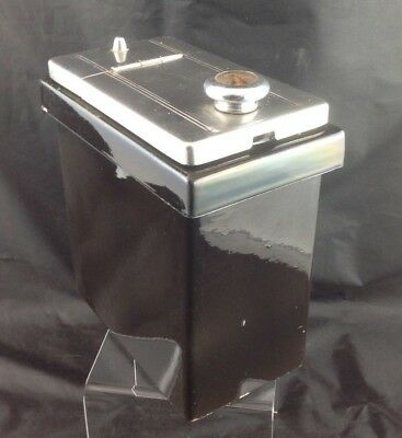 Hall Porcelain Topping Dispenser Soda Fountain Ice Cream Syrup Black