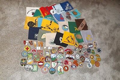BOY SCOUT PATCH SLIDE NECKERCHIEF PIN LOT  90+ 1950's  -2000's OA CSP PHILMONT