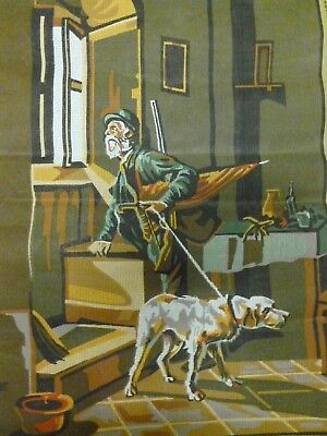 "Collection D 'Art ""Le Chasseur"" The Hunter Tapestry Canvas #139 (60 x 80)*BN"