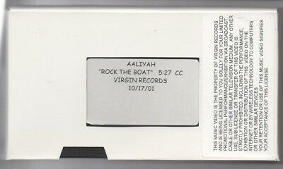 Aaliyah Rock The Boat 2001 Promotional VHS Tape Music Video Virgin Records Rare