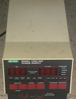 BIO-RAD MODEL 1000/500 POWER SUPPLY 100/120V 50/60Hz 1450W 12A