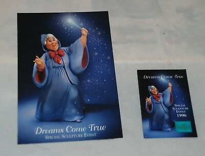 1996 Disney's Classics Collection Fairy Godmother Sculpture Button/Card