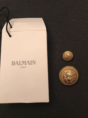Set Of 2 Lion Balmain Gold Buttons