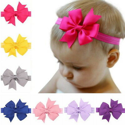 20 Pieces Baby Girls Infant Boutique Wave Hair Flower Headband Hair Bow Band