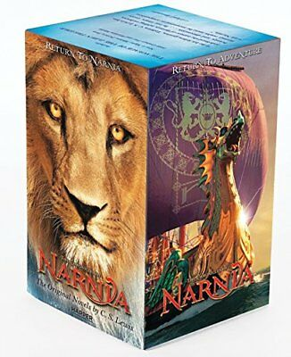 Chronicles of Narnia Box Set by C. S. Lewis (Paperback, 2010) *FREE Ship*
