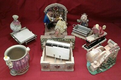 VHTF RARE 1992 Disney Catalog Beauty and the Beast 7 Piece Decorative Desk Set