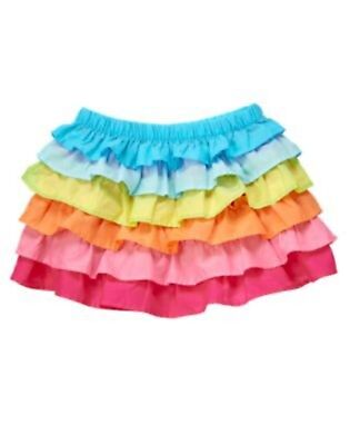 Gymboree NWT Multi Color Ruffle skirt Girls 4 Rainbow Cabana
