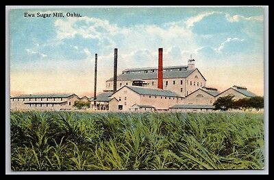 Oahu Hawaii Ewa Sugar Mill Postcard