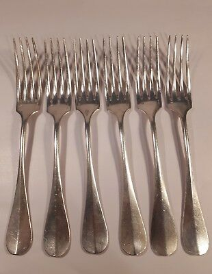 CHRISTOFLE - Antique 6x forks (21cm) - silver plated
