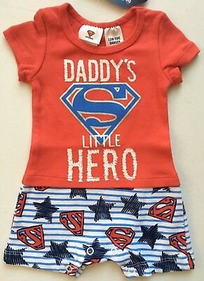 Superman Baby Boy Romper Newborn Size 0000 Bnwt
