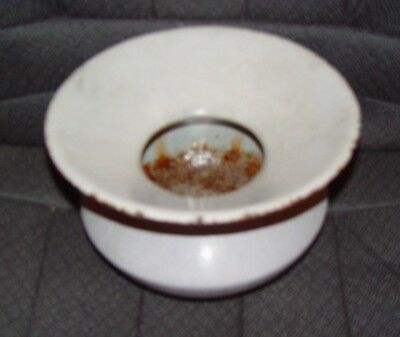 Vintage/Antique 1800's Cast Iron Spittoon (Covered in White Enamel)