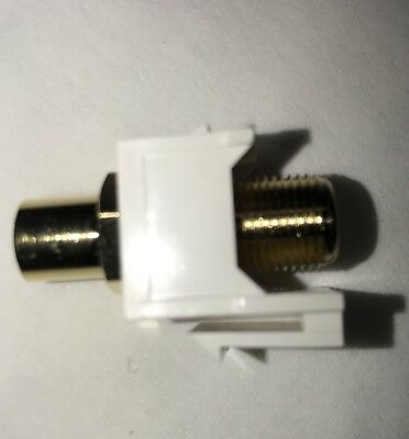 Lot of 50 Gold plated Keystone insert RCA to F-Connector White - NEW