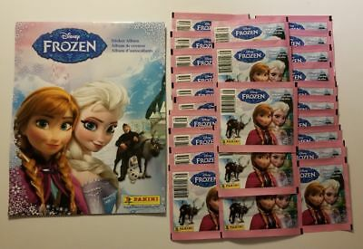 New Panini Disney Frozen Sticker Album + 25 Packs Of Stickers Sealed Save $$$