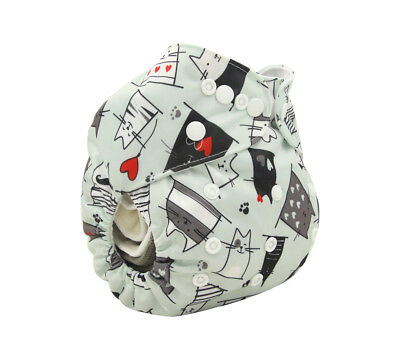 New Reusable Modern Cloth Nappy MCN + FREE insert – Cool Cats & Hearts
