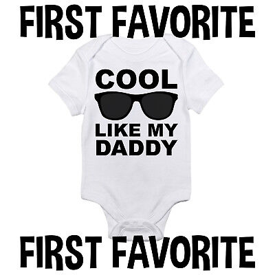 d67f1c56b Cool Like Daddy Baby Onesie Shirt Dad Shower Gift Funny Newborn Clothes  Gerber