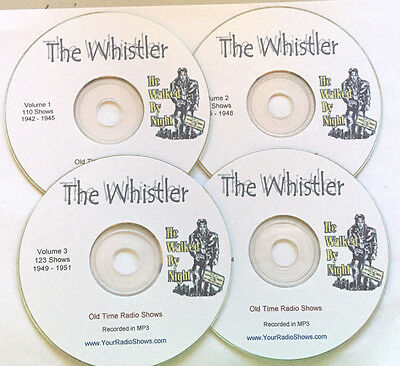 The Whistler 4 CD 410 Shows-Old Time Radio-1944-1948-MysteryONLY $11.99 FREE-S&H