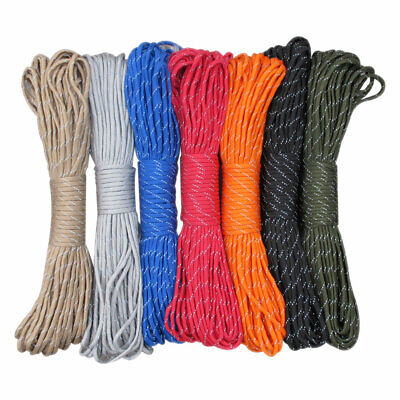 Paracord 550 Parachute Cord Lanyard Rope Mil Spec 100FT Survival Rope 9 Strand