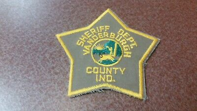 Vanderburgh County, Indiana Sheriff Police Shoulder Patch In