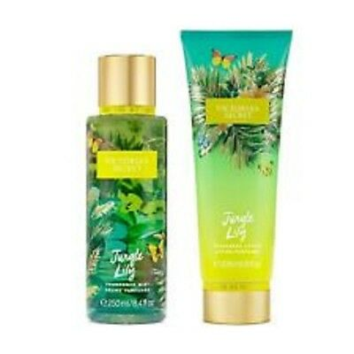 2 Piece Victoria's Secret Jungle Lily Fragrance Mist and Lotion Lily Orchid