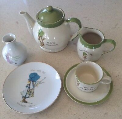 Vintage Holly Hobbie Collectables 5 Piece Collection
