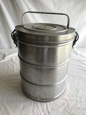 Vintage Super Chef Stainless Insulated 1 1/2 Gallon Food Container