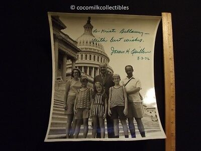 1972 Autographed Picture James Quillen U S House Representatives Congress TN
