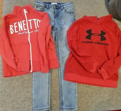 Bulk Boys Winter Size 7-8 Jeans and Jumpers - Milkshake, Under Armour And...