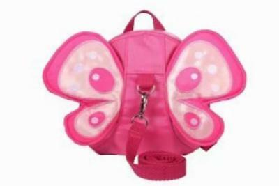 Pink girls safety walking reins backpack Kid/Toddler harness wings butterfly bag