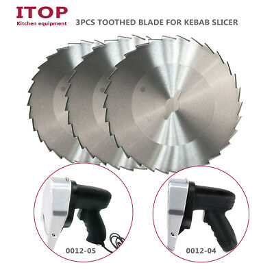 Sharp Toothed blade zigzag stainless steel 100mm doner kabab slicer meat cutter
