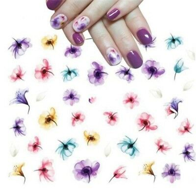 3 Sheet Nail Art Water Decals Stickers Transfers Summer Fashion Flowers DIY