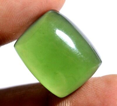 21.40 Ct Natural Green Serpentine GGL Certified Untreated Cabochon Loose Gem