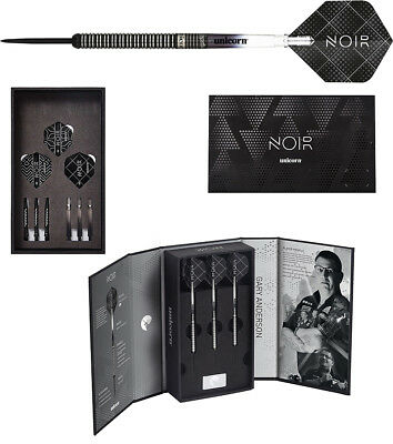 Darts UNICORN Gary Anderson World Champion NOIR Deluxe Steeldarts - Dart Set