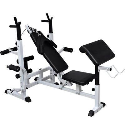 Multi-station Weight Bench Adjustable Workout Bench Press Fitness Equipment Gym