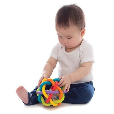 Playgro Baby Toy Bendy Rattle Ball Textured Sensory Educational Special Needs