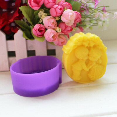 3D Boy Girl Heart Moon Silicone Soap mold Craft Molds DIY Handmade Soap Mould N7