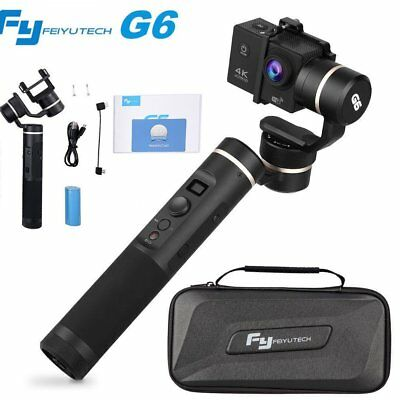 Feiyu G6 3 Axis Handheld Gimbal Stabilizer with Tripod for GoPro Hero 6 5 4 HERO