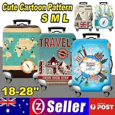 18-28'' Travel Luggage Suitcase Cover Protector Elastic Scratch Dustproof Bags