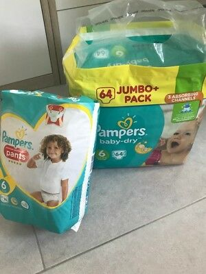 Ca. 125 Pampers und 16 Pants Gr.  6