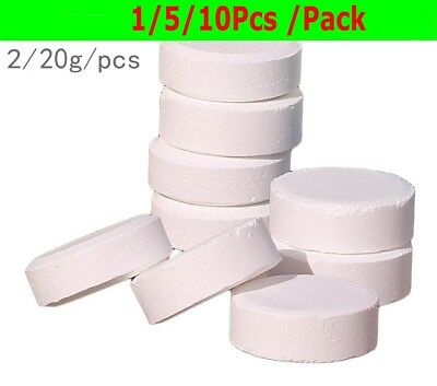 10Pcs Chlorine Tablets 5 In 1 Multifunction Swimming Pool Hot Tub SPA Clean 20g
