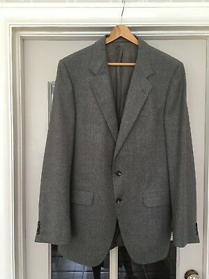 "Men's Grey Pure New Wool Jacket Blazer By Burbridge Berkeley Square London 40"" 4"