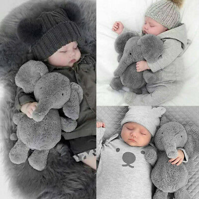 US Baby Child Elephant Lumbar Pillow Long Nose Doll Pillow Soft Plush Stuff Toy