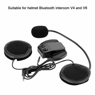 Headset mic//speaker+Clip mount for Motorcycle Bluetooth Helmet Intercom V6 1200M