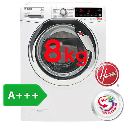 Hoover Waschmaschine 8kg Frontlader A+++ Dampf Funktion Touch Display Aquastop