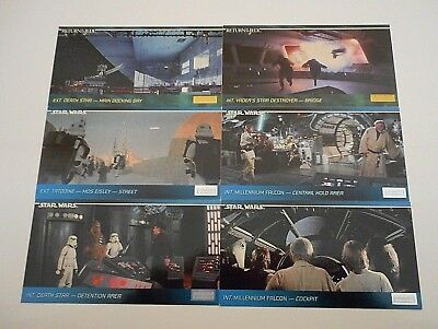 6 x STAR WARS/RETURN OF THE JEDI WIDE VISION TRADING CARDS-TOPPS- FREE POST*