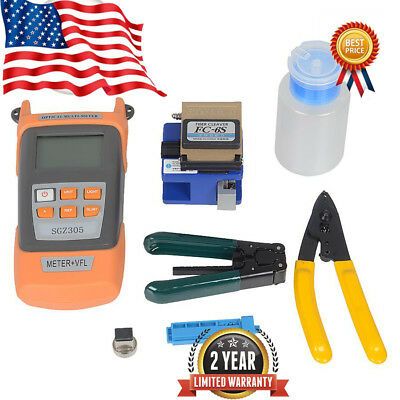 Fiber Optic FTTH Tool Kit FC-6S Fiber Cleaver and 2 in1 Optical Power Meter